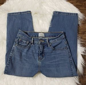 Levi's 512 Perfectly Slimming Blue Jean Capris 4